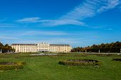 Vienna - OCTOBER 14: Schonbrunn Palace on October 14 in Vienna, Austria. Schonbrunn Palace building is one of the most popular tourist attractions in Vienna