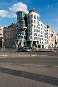 Prague - MAY 9, 2014: Dancing House on May 9 in Prague, Chech Republic. Dancing house is one of the
