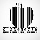 Barcode Apple Image Vector Illustration