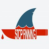 Stop Finning .vector Symbol Of Safe Sharks