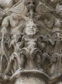 Capital Devil On Pilar Church Chatellerault