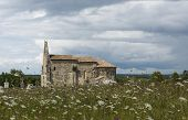 Church And Meadow Le Meillac Gours