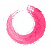 Round pink brush stroke