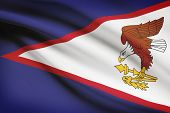 pic of samoa  - Flag blowing in the wind series  - JPG
