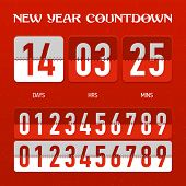 New Year Countdown. Vector.