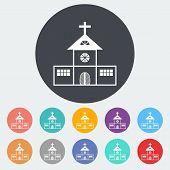 Church single flat icon.