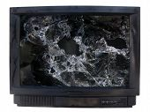 Glass  Broken  Tv