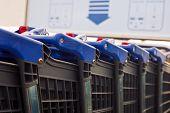 Blue Shopping Carts