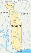 Togo Political Map