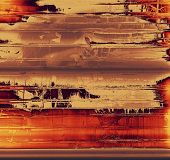 Grunge aging texture, art background. With yellow, brown, red, orange patterns