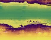 Abstract background or texture. With yellow, purple, green patterns