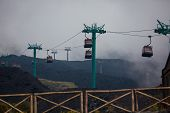 Cable Car On Etna Volcano