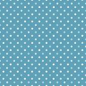 Blue Textured Polka Dot Seamless Pattern