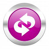rotation violet circle chrome web icon isolated
