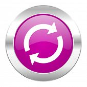 reload violet circle chrome web icon isolated
