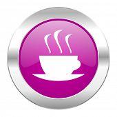 espresso violet circle chrome web icon isolated