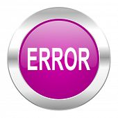 error violet circle chrome web icon isolated