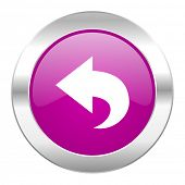 back violet circle chrome web icon isolated