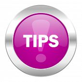 tips violet circle chrome web icon isolated
