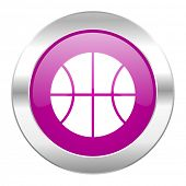 ball violet circle chrome web icon isolated