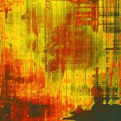 Grunge old texture as abstract background. With yellow, red, orange, green patterns