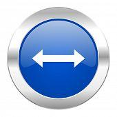 arrow blue circle chrome web icon isolated