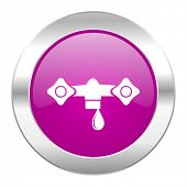 water violet circle chrome web icon isolated