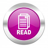 read violet circle chrome web icon isolated
