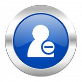 remove contact blue circle chrome web icon isolated