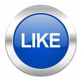 like blue circle chrome web icon isolated