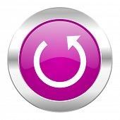 rotate violet circle chrome web icon isolated