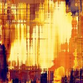 Dirty and weathered old textured background. With yellow, brown, orange patterns