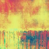 Old texture with delicate abstract grunge background. With yellow, red, orange, green patterns