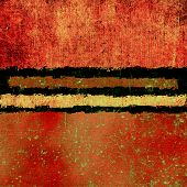 Vintage, textured background with grunge elements. With yellow, brown, red, orange patterns