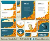 Corporate identity business set template. Blank cd - dvd, business cards, envelope, mouse pad. Fully editable eps10 vector illustration