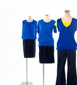 female three dress on mannequin isolated