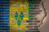 Dark Brick Wall With Plaster - Saint Vincent And The Grenadines