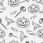Halloween seamless pattern background.