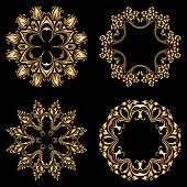 Vector Gold Ornaments.