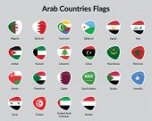 Arabic Continent countries flags