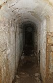 Tunnel Inside The Fortification Called Fort Sommo Used By The Army During The First World War Fought