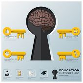 Education And Learning Key Shape Infographic