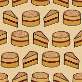 Victoria Sponge Cake Background