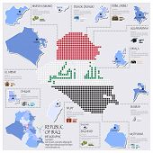 Dot And Flag Map Of Republic Of Iraq Infographic Design