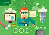Постер, плакат: Graphic designer profession series