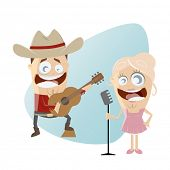 funny cartoon country singers