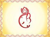 Abstract Ganesha Chaturthi Background