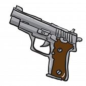 gun cartoon illustration isolated on white