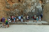 Tourists at Lindos Acropolis