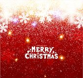 Christmas Background with Blurred Snowflakes, vector
